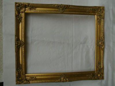 großer Bilderrahmen Prunk Gemälde Barock Wand Rahmen Antik-golden Holz 64x54x5c