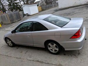 2005 Honda Civic coupe silver 2 DR 5 Speed Standard