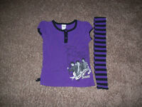 Purple T-Shirt And Scarf Size 6