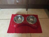 Dog bowl, modern bone shaped!