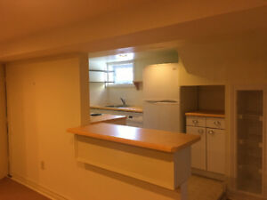Spacious and bright 1 bedroom basement apartment