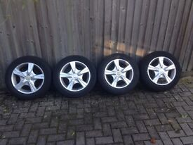 Alloy wheels with tyres 15 inches