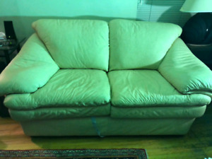 Beige Leather couches