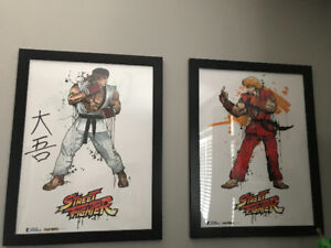 Street Fighter poster framed and signed by Daigo Umehara