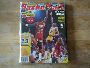 NBA Basketball Stickers and Album 1990-91 full set UNOPENED!