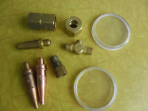 (2) New Victor Style Oxy. & Acty. Cutting tips,Brass extra Parts