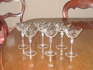 ETCHED CRYSTAL CHAMPAGNE/HIGH SHERBETS