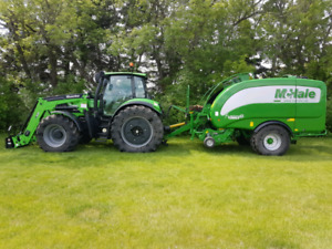 Custom baling silage and haylage