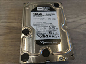 "WD Caviar Black 640GB 3.5"" SATA with SATA cable included"