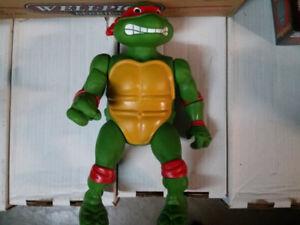 """1989 Playmates Teenage Mutant Ninja Turtle (TMNT)  13"""" Raphael"""