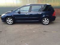 2007 peugeot 307 1.6 hdi se sw estate # panoramic roof # cheap tax + ins model