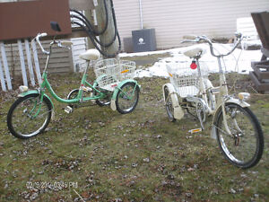 2 Rare Supercycle adult tricycles with tilt mechanism