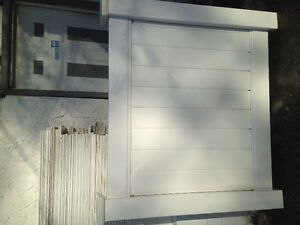 4ft high white vinyl privacy fence and picket fence