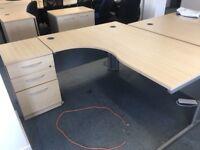 10 x Top quality branded Sven christian corner office desks sets for just £90 a set