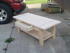coffee table 26 x42 unfinished