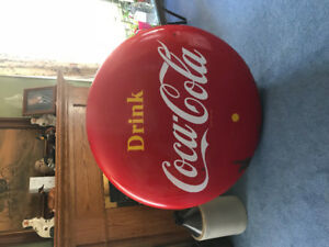 Fourty Eight Inch Coca Cola Button Sign