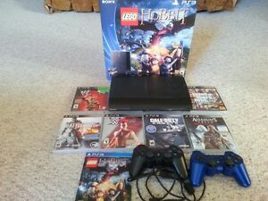 PS3 (500GB) with 22 games, wireless Headset and two controllers.