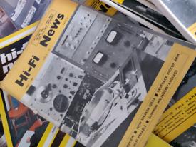 40 Vintage HiFi News magazines boxed attic find