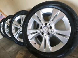 "Mercedes 17"" Genuine alloy wheels Michelin tyres 6mm fit vw caddy van"