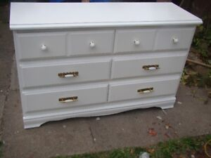 Nice 6 drawer dresser painted arctic white (just reduced )