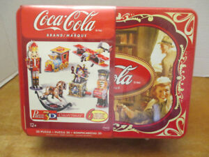 Coca-Cola 3-D Puzzles in collector tin - 6 in all - NEW