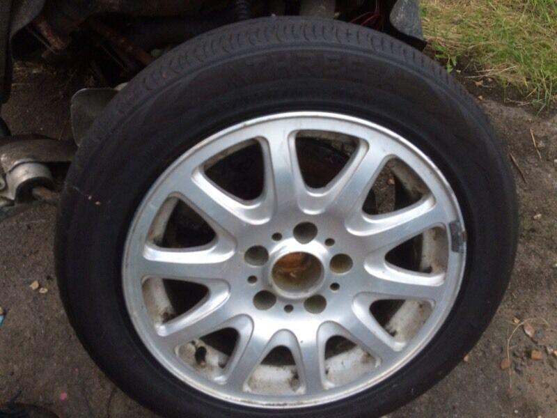"Bmw alloys 5x120 15"" rims tyres wheels"