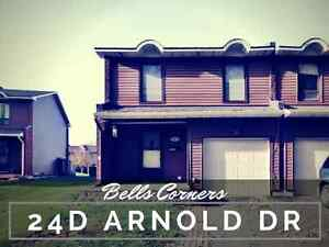 4 Bed End Unit on a Cul-De-Sac in Bells Corners