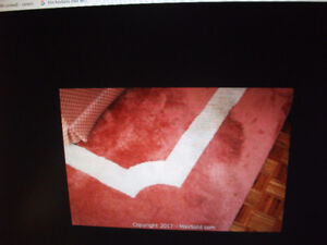VERY LARGE WOOL RUG  9' 6'' x 9' 6'' two tone  won't last
