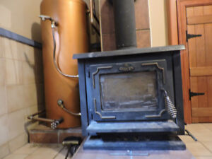 osburn woodstove and hot water heater