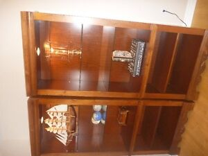2 Broyhill lighted Cabinets
