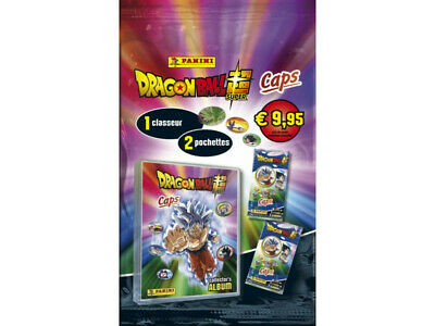 DRAGON BALL SUPER CAPS - Empty album + 2 packs with 12...