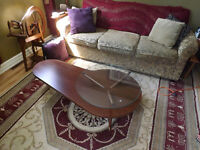 1960's coffee table and end table