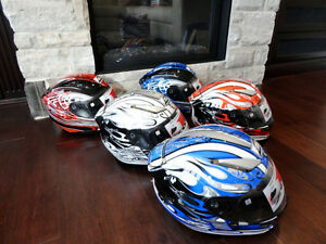 Several Brand New Zoan Size XS Motorcycle/Snowmobile Helmets