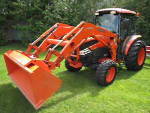 0 hrs on loader, Just like new Kubota L-3940 4x4 loader, cab