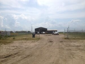 Fenced 1.29 Acres with a 2 Bay Shop and Office Lease or Purchase