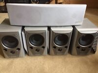 Yamaha AV receiver and Mission M72 surround sound speakers