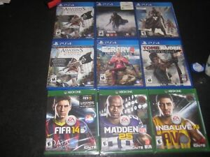 ps4 and xbox one games (prices vary)