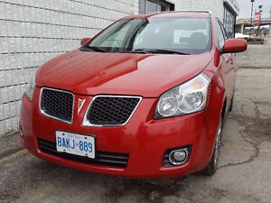 2009 Pontiac Vibe AWD Red 4-Door Hatchback with Electric Sunroof