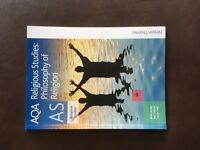 AQA AS Religious Studies; Philosophy of Religion Textbook