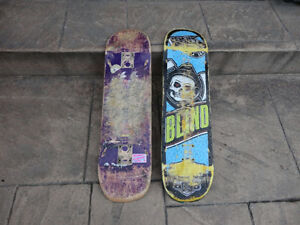 Two well Used but still functional Skateboard Decks $9/both