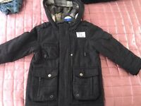 Next charcoal coat 3-4yrs with hood