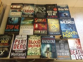 16 murder / thriller / crime books