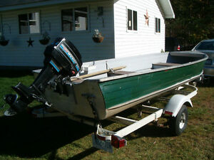 14 FT. Boat, trailer and Motor