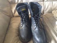 Size12 Work Boots Safety Toe, Hard Hat And Gloves