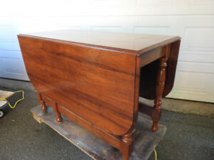 antique walnut drop leaf table... great condition REDUCED