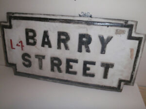 Old English Cast Iron Wall Mount Street Sign