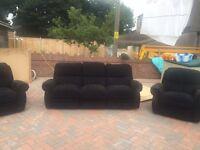 Sofa three piece suite