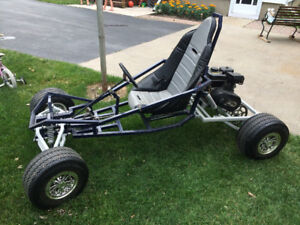 Full suspension go kart