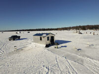 **Ice Fishing Hut and Overnight Bungalow Rentals- White Lake**