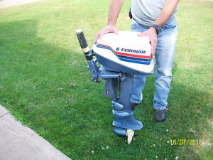 Envinude 6hp 2 stroke outboard motor and hose/tank